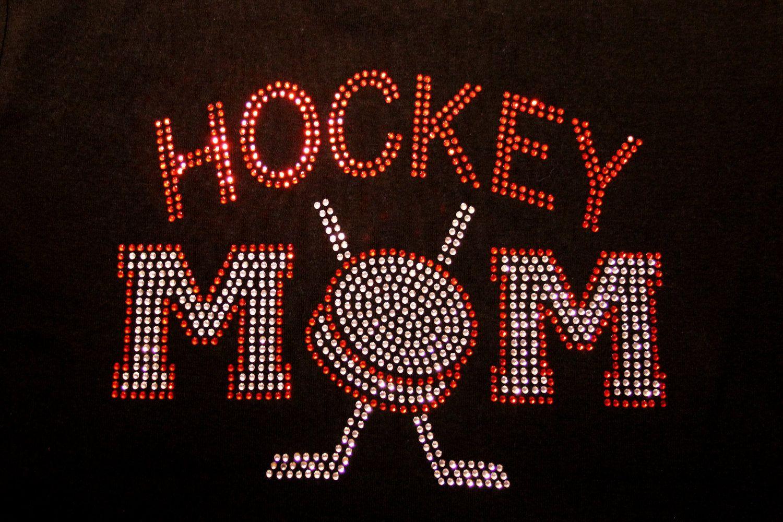 Rhinestone Hockey Mom Shirt Etsy Hockey Mom Mom Shirts Hockey