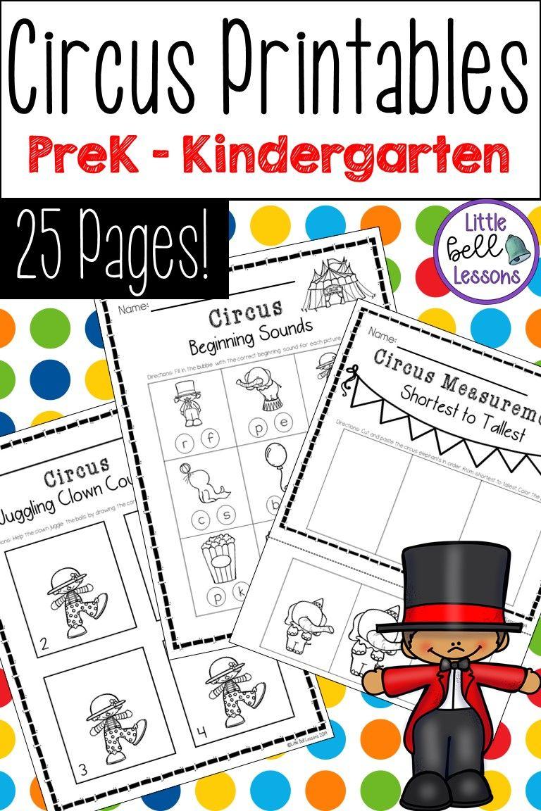 Circus Activities For Preschool Prek And Kindergarten Literacy Activities Preschool Kindergarten Lessons Circus Theme Preschool [ 1152 x 768 Pixel ]