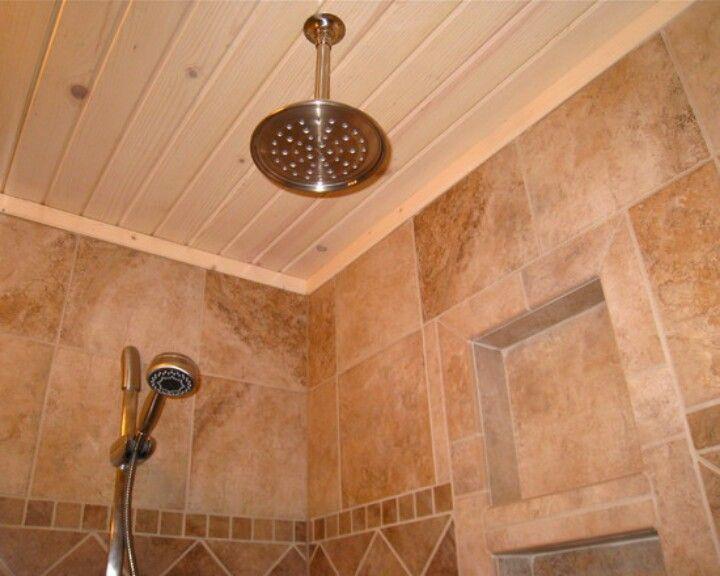 I Like The Breadboard Ceiling Idea Basement Bathroom Remodeling