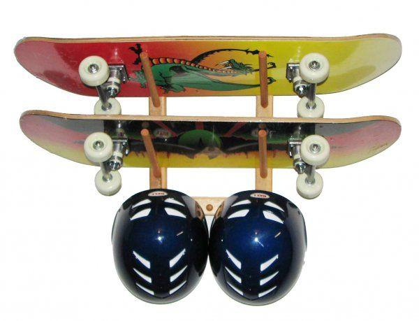 Skateboard Storage Rack Design For Kids Skateboard