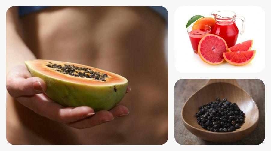 La papaya o lechosa, es una fruta tropical muy fácil de conseguir. Debido a una enzima llamada papaína es considerada la reina