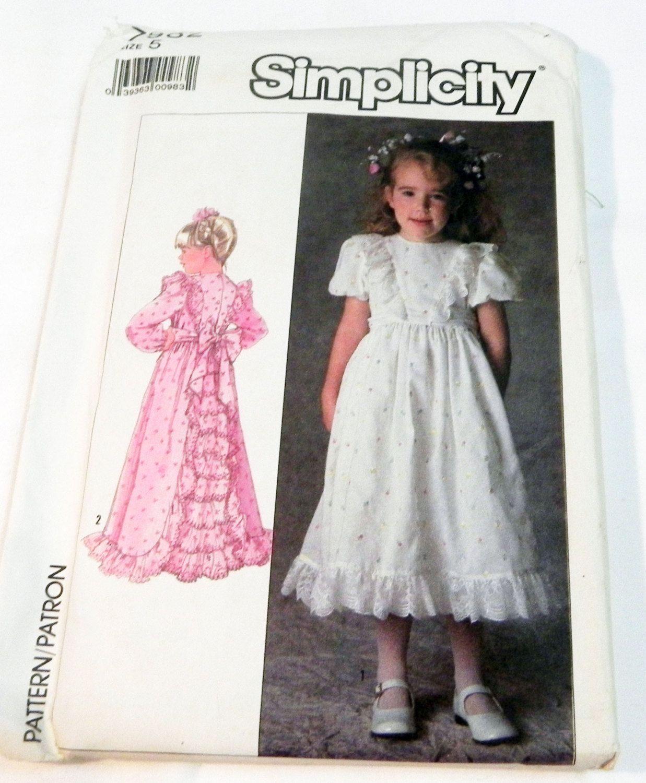 Girls Childs Easter Sunday Flower Girl dress victorian prairie dress ...