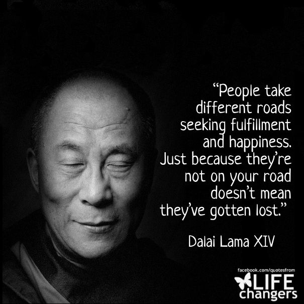 Seeking Inner Peace Quotes: People Take Different Roads Seeking Fulfillment And