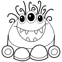 The Creative Chalkboard Day 2 Freebie Monster Writing Pages And New Monster Clipart Monster Coloring Pages Monster Quilt Monster Clipart