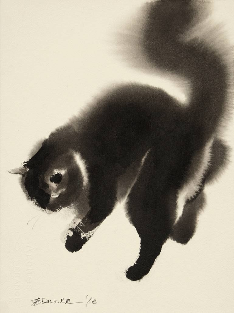 Saatchi Art Is Pleased To Offer The Painting Naughty Kitten By Endre Penovac Sold And Originally Listed For Kitten Art Cat Art Illustration Symbolic Art
