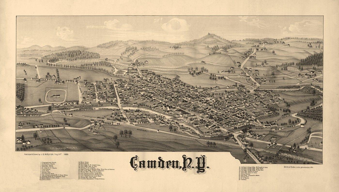 New york oneida county oriskany falls - Historic Map Of Camden New York 1885 Oneida County