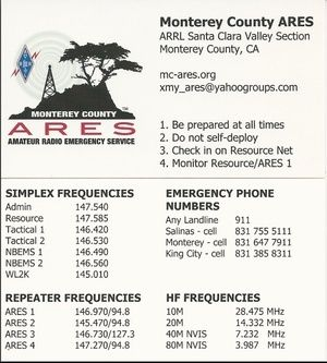 ARES pocket card - Great idea to print folding business card