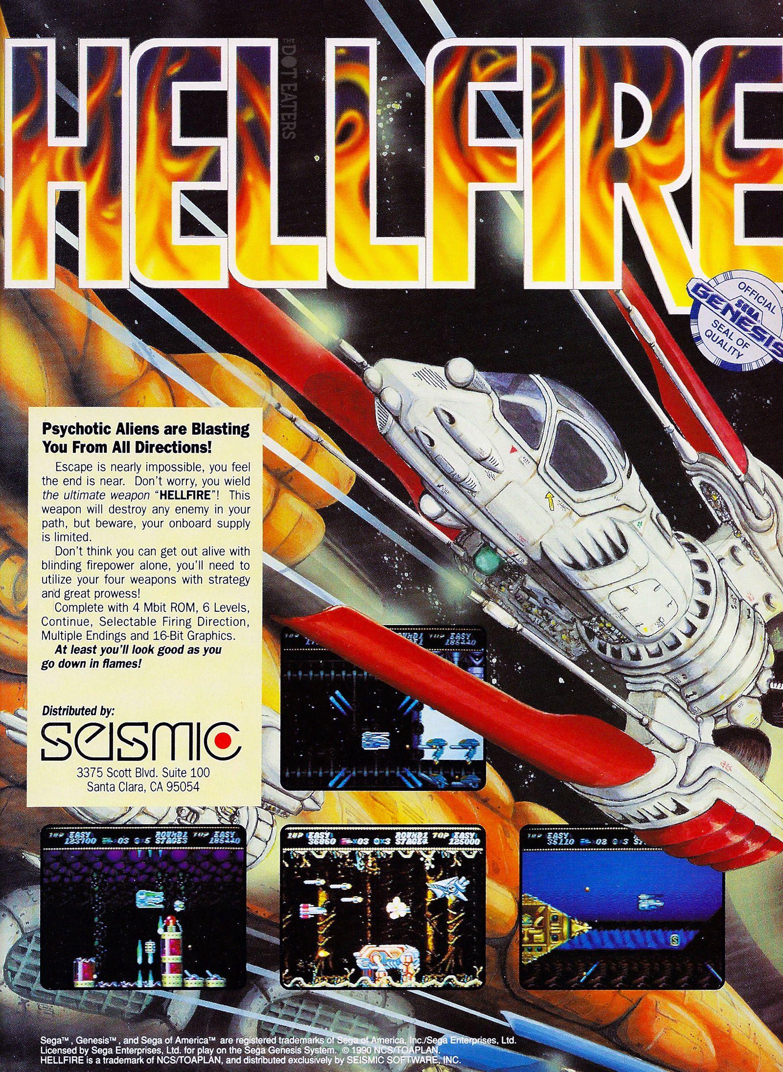 Hellfire! (1990) Genesis bitstory Retro video games