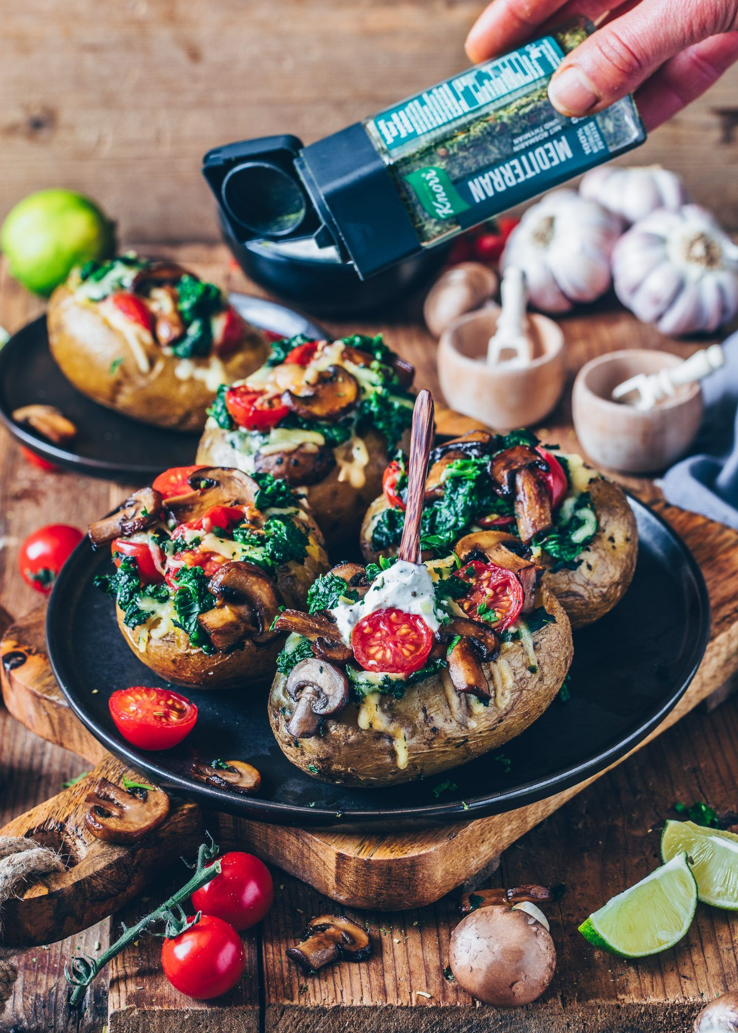 Gefüllte Ofen-Kartoffeln #potatowedgesselbermachen