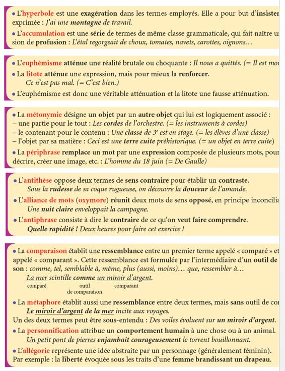 Procedes De Style French Language French Grammar Language