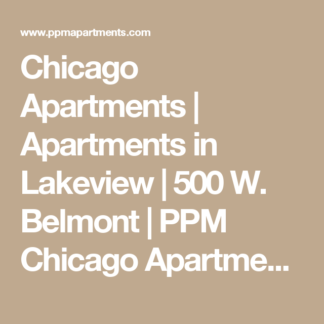 Apartments In Lakeview