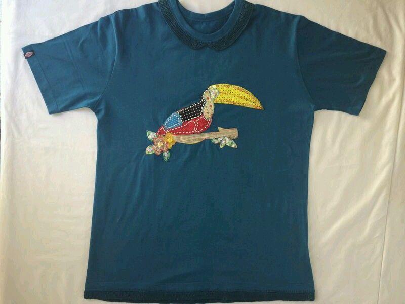 camiseta patch aplique