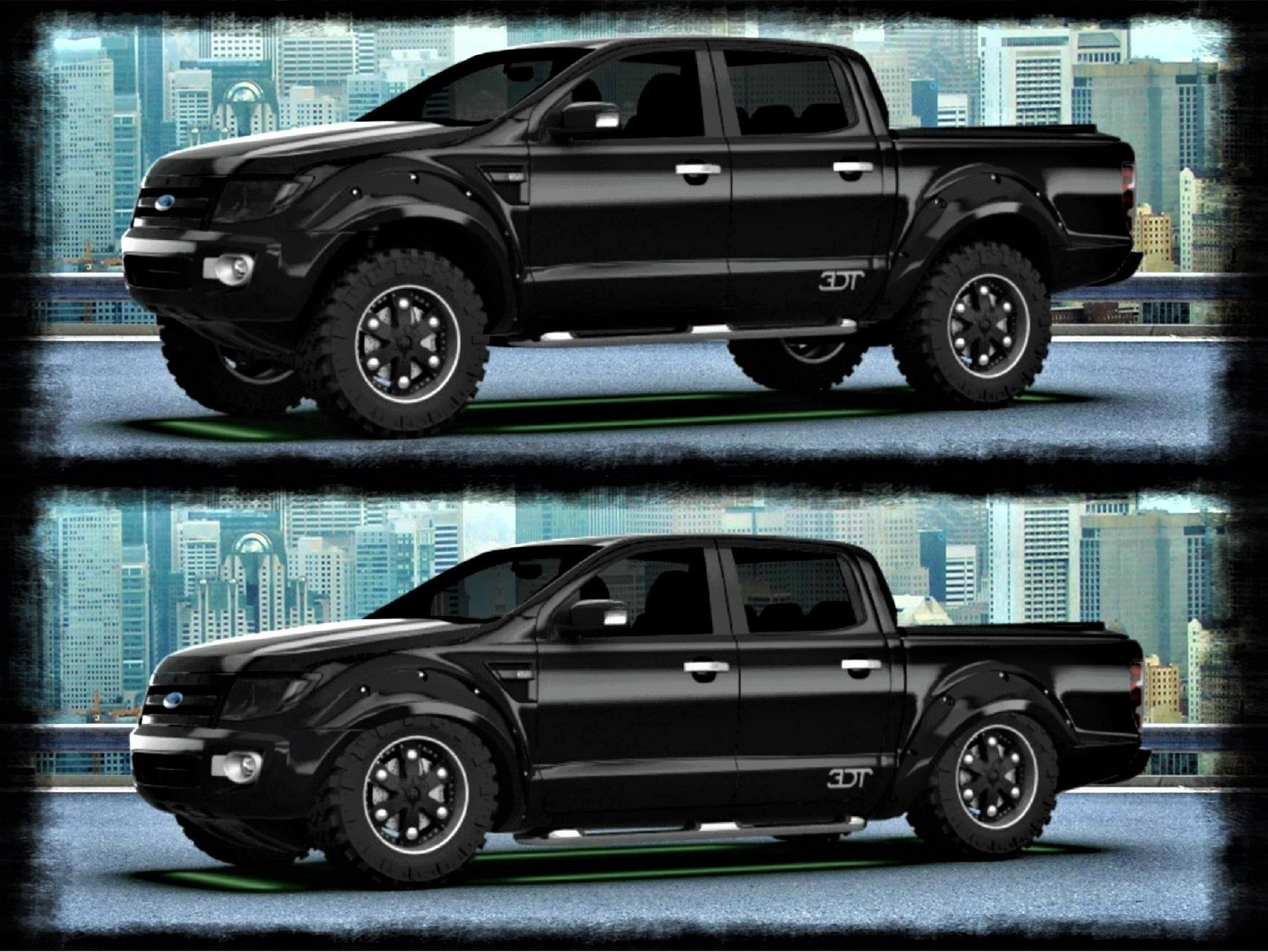 Ford Ranger Black Edition From 26 945 Exc Vat Suspension At Full Height Slammed Down Low Http 3dtuning Co Ford Ranger Truck Ranger Truck Ford Ranger
