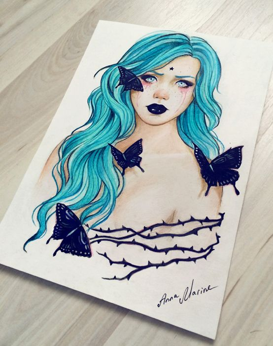 Let me be myself (original for sale) by Anna-Marine