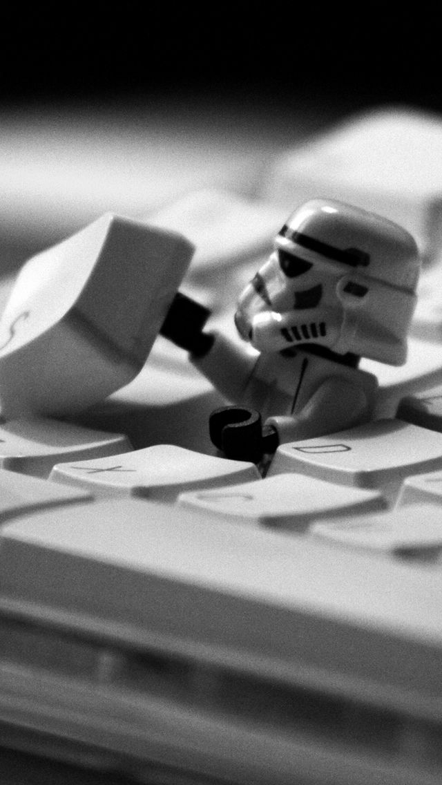 Star Wars Lego On Keyboard Iphone 5s Wallpaper Wallpapers Star