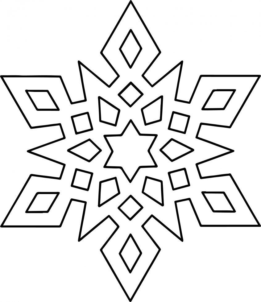Snowflake Mandala Coloring Pages Coloring Nice Crystal Snowflake Coloring Page Pages Easy In 2020 Snowflake Coloring Pages Mandala Coloring Pages Coloring Pages