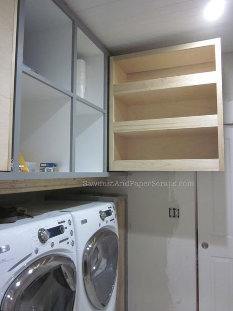 Use Every Inch Of E Above Front Loading Washer And Dryers By Building A Pull Out Storage Cabinet