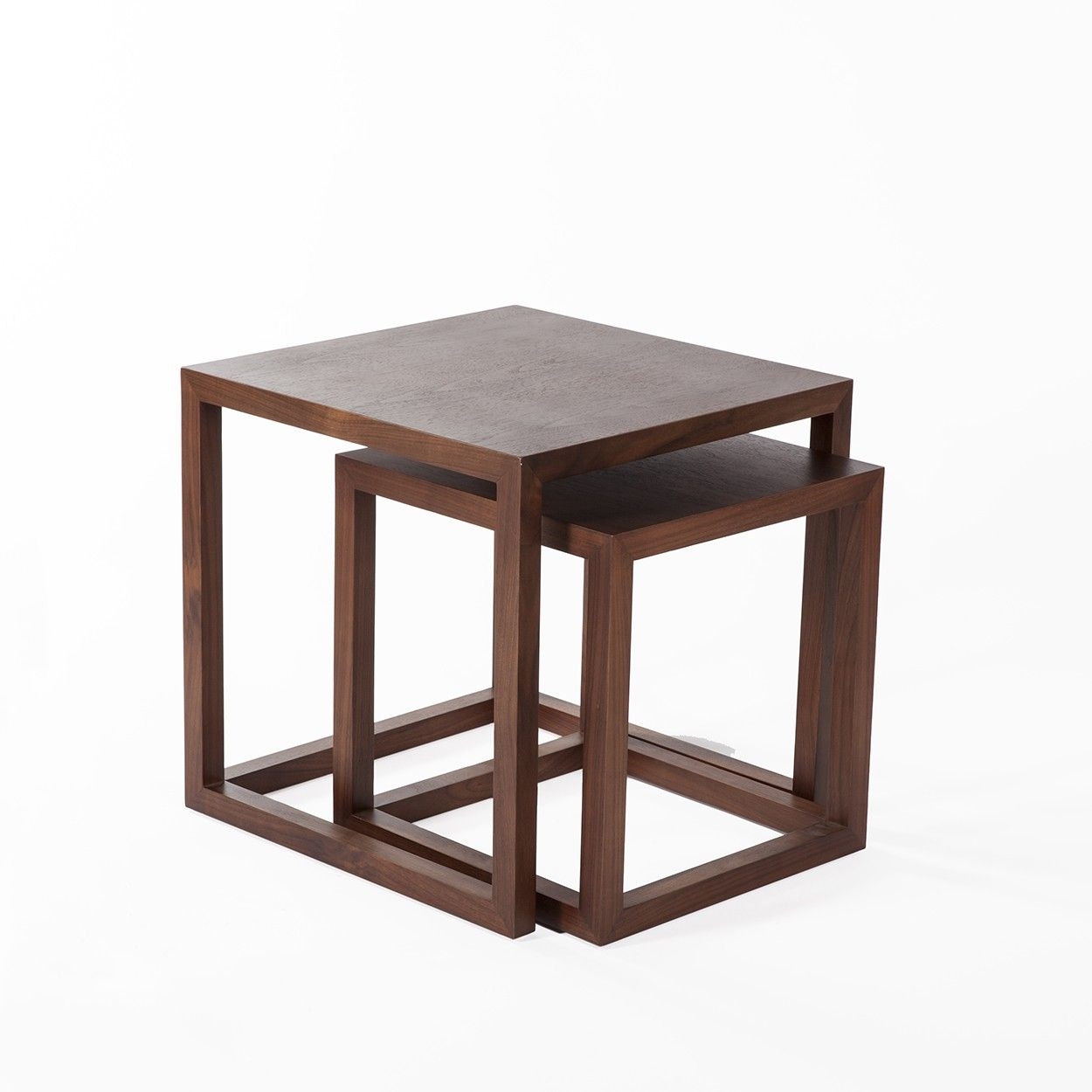 The Everhart Nesting Tables Contemporary Wood Nesting Table Http Www Franceandson Com Mid Century Modern Everhart Nesting Tables Table Wood Nesting Tables