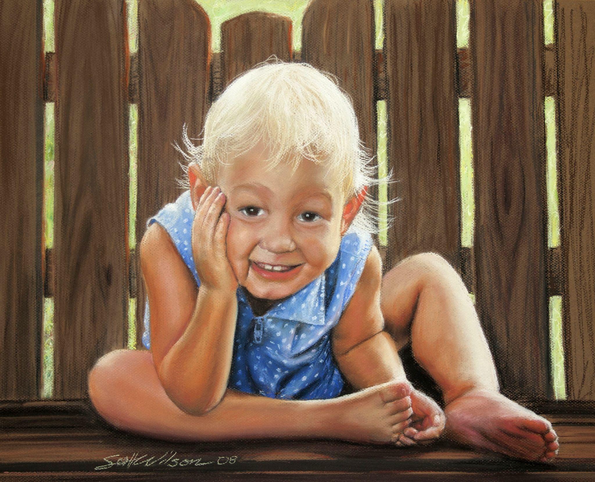 Pastel of Madalyn, my first daughter. Artist Scott Wilson