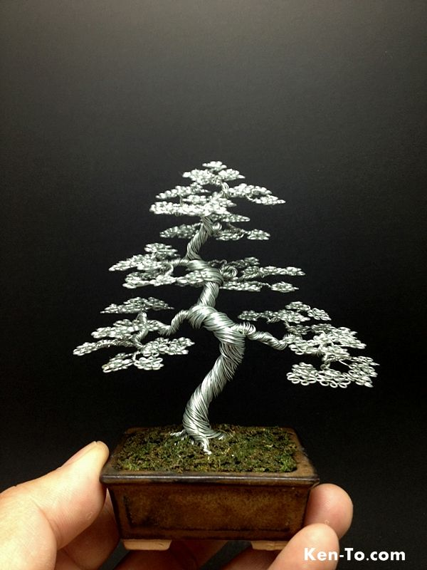 A Large Wire Bonsai Tree By Ken To By Kentoart On Deviantart Bonsai Tree Bonsai Tree Painting Bonsai Wire