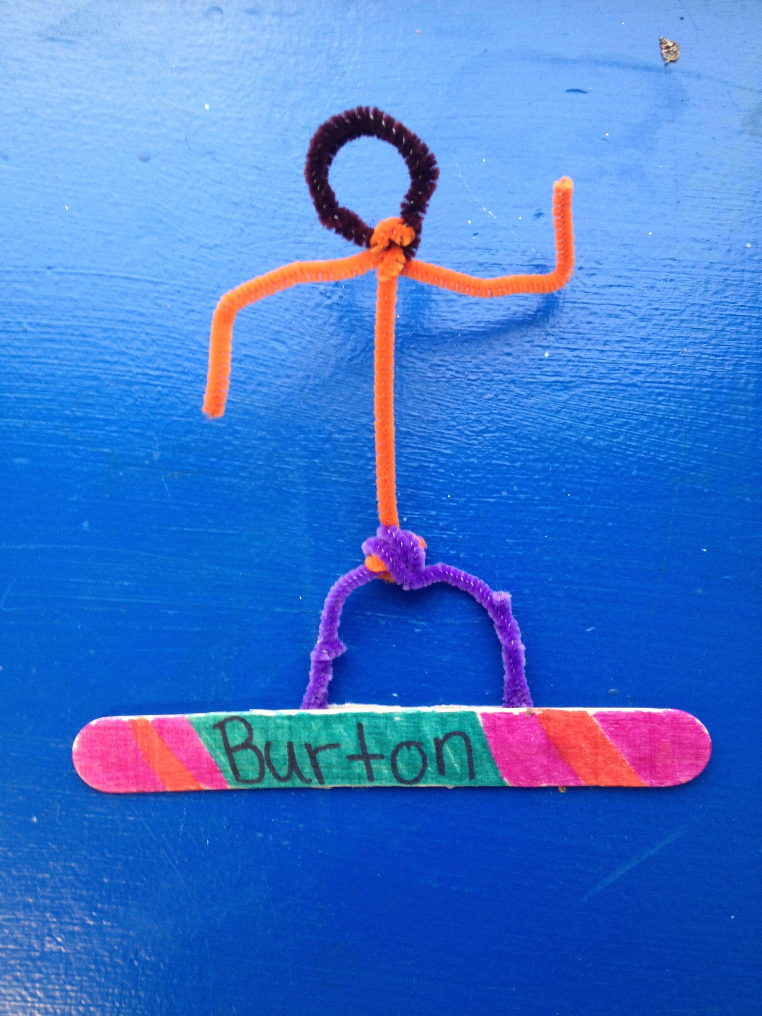 Pipe Cleaner Olympic Snowboard Craft