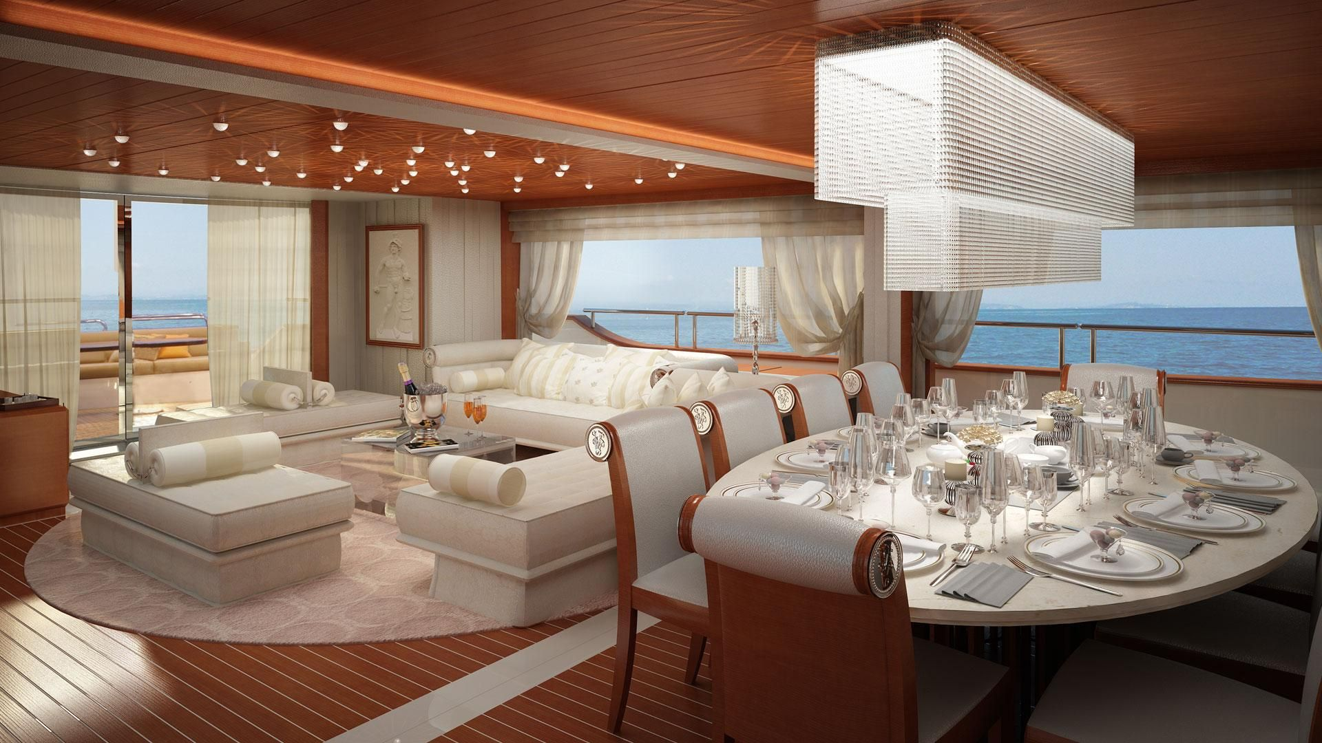 Table setting luxury motor yacht gallery benetti yachts