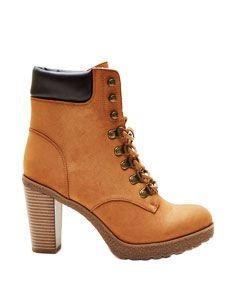 bottes imitation timberland femme