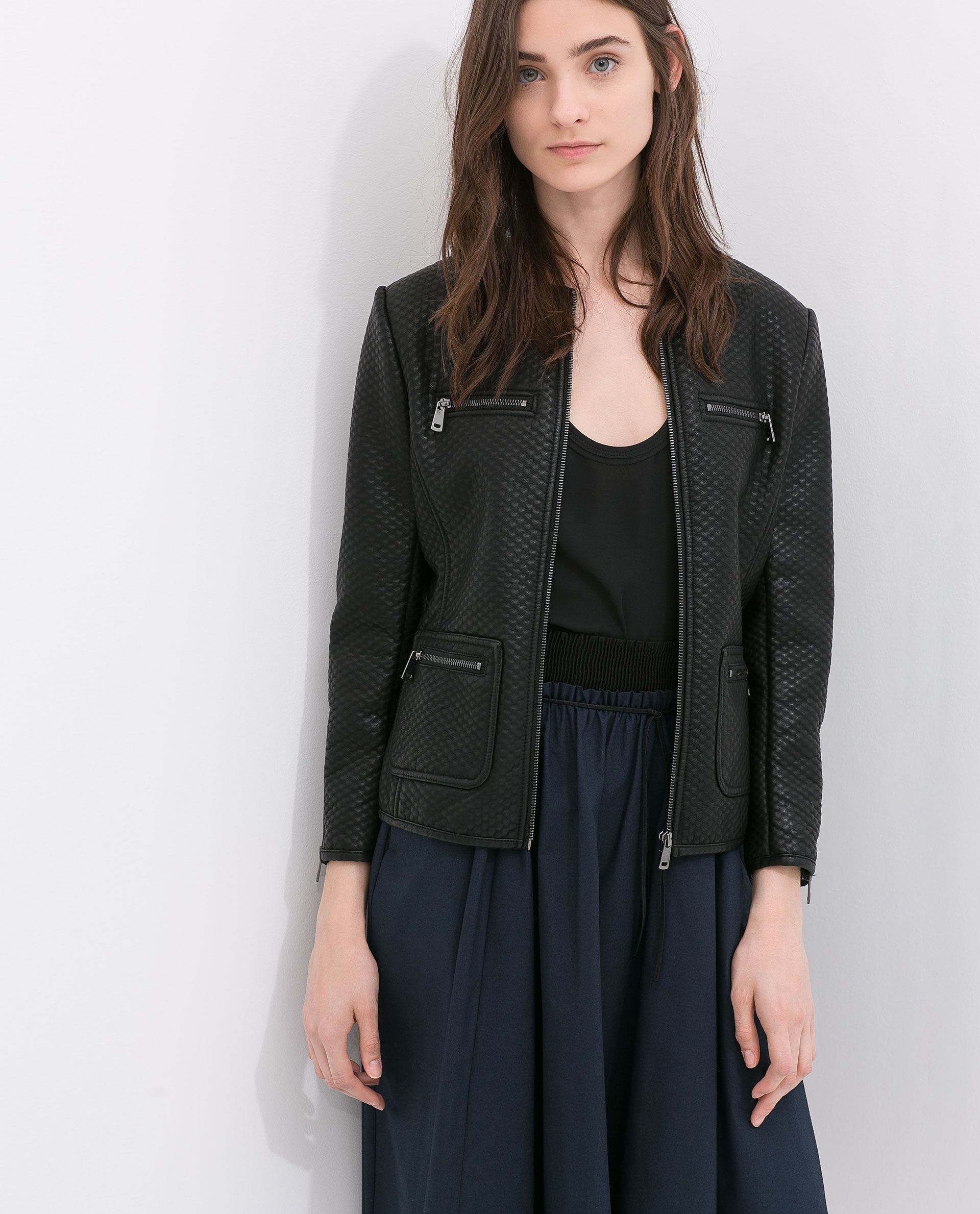 Pin by Jagoda Be on Jackets Black faux leather jacket