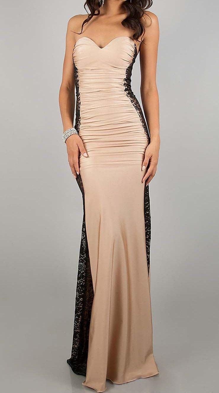415207af96 Comparte y gana un descuento Vestido Largo Negro y color Albaricoque  Palabra de Honor