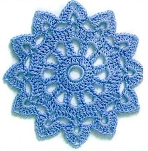 маленькие ажурные салфетки крючком 2 вязание схемы вязания