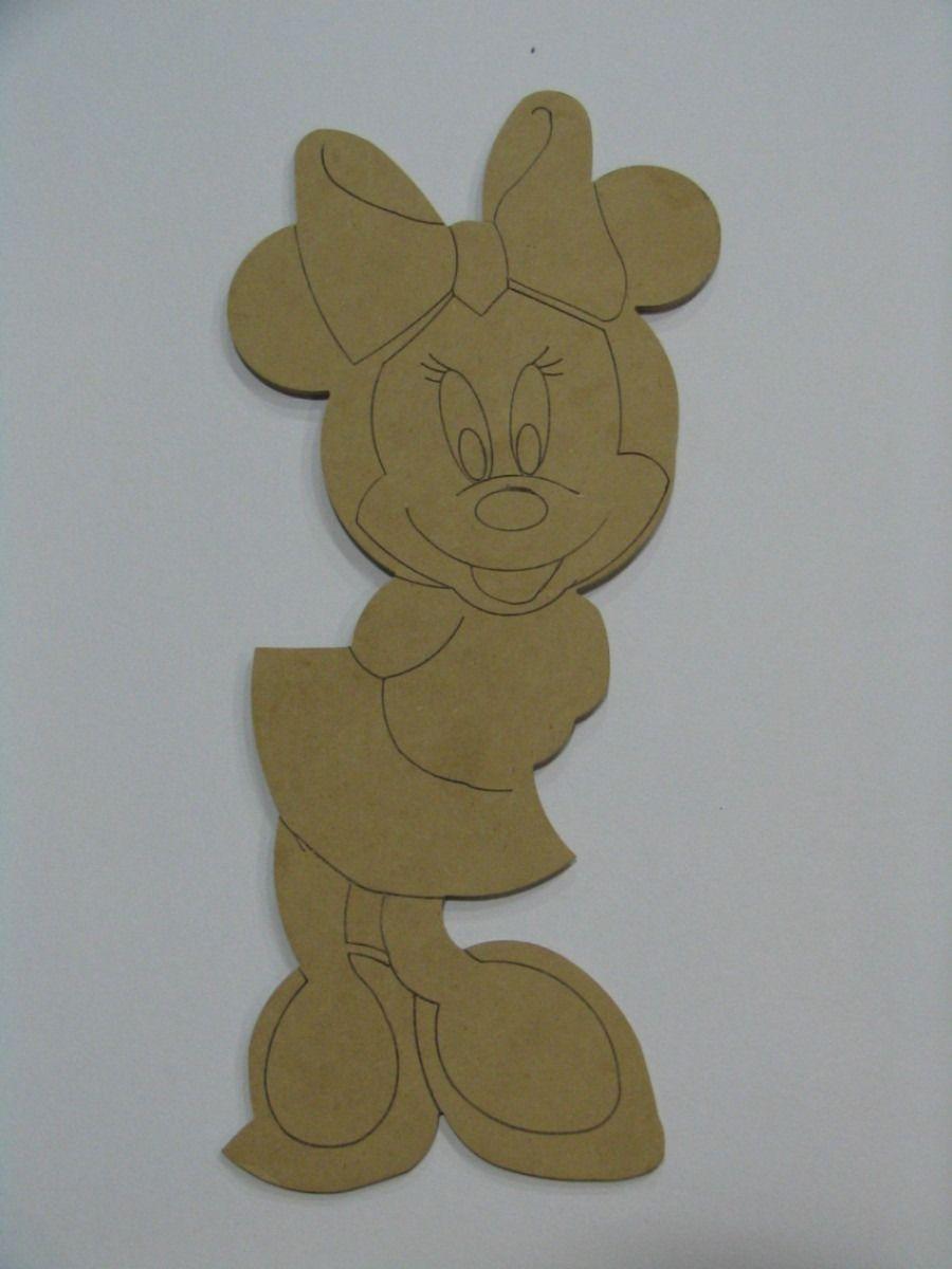 Figuras De Madera Para Pintar Mickey Mouse Mimi Mdf Mlm F