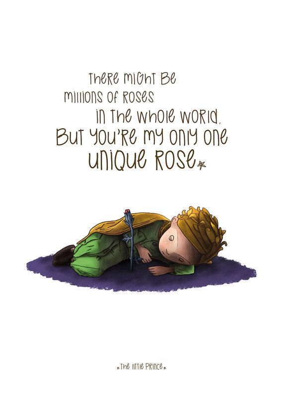 Items Similar To The Little Prince Quote Inspirational: The Prince, The Prince Poster, Illustrations, Typography