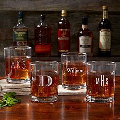 Personalized Old Fashioned Glasses Such A Great Gift Idea For
