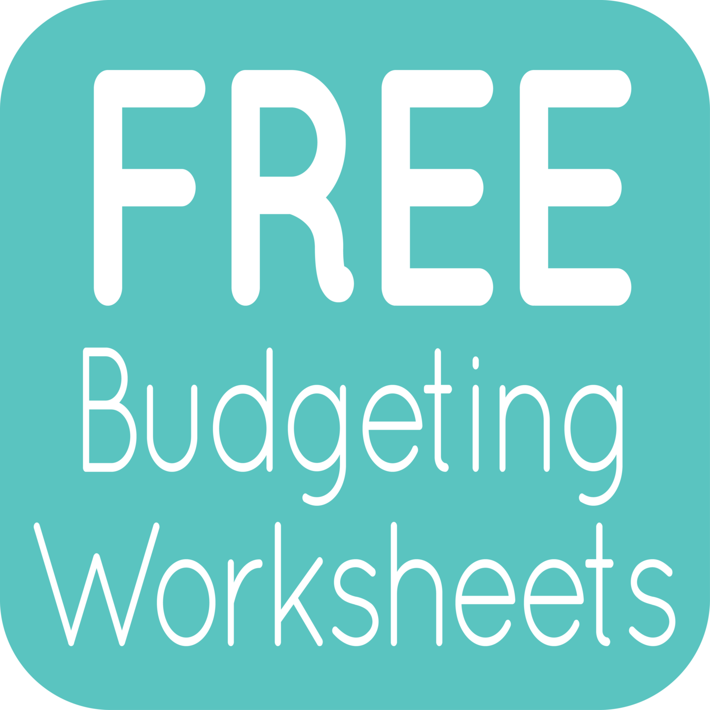 Free Budgeting Worksheets