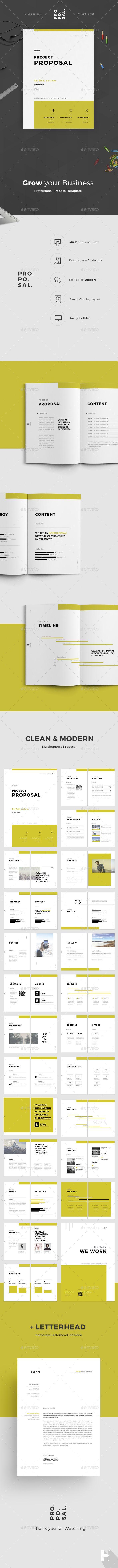 Proposal Proposal Design Presentation Design Template Business Proposal