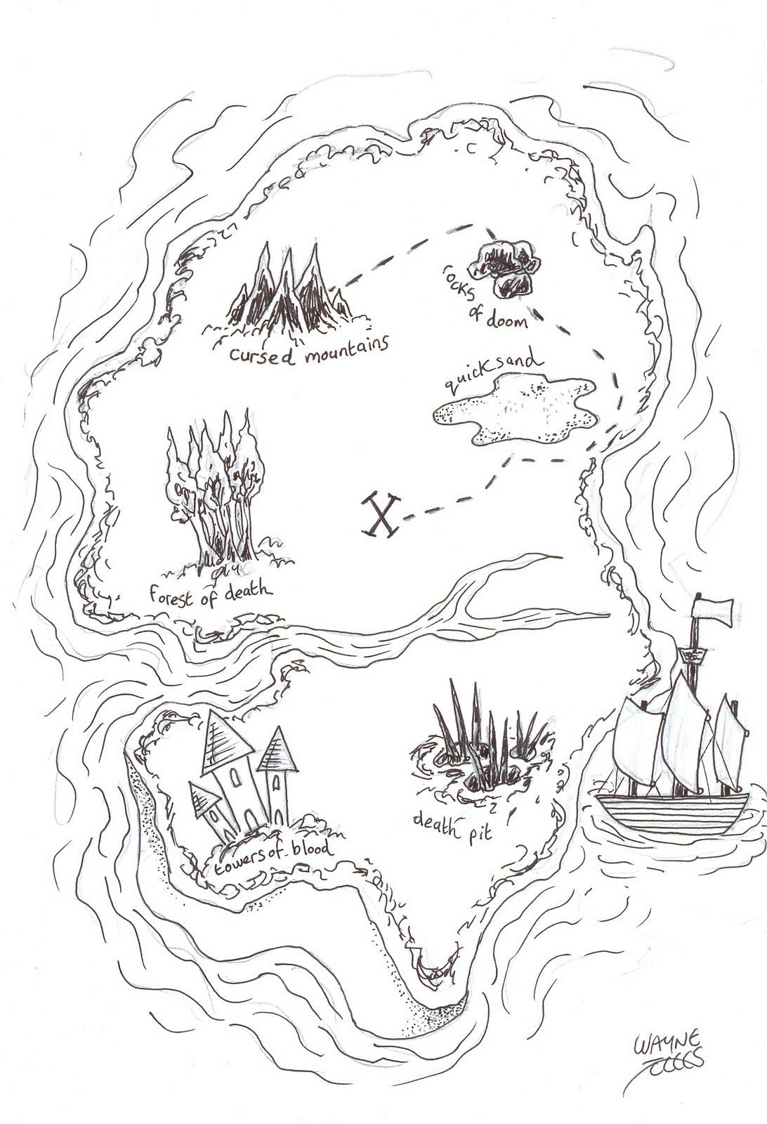 - Treasure Map Coloring Pages For (With Images) Pirate Treasure