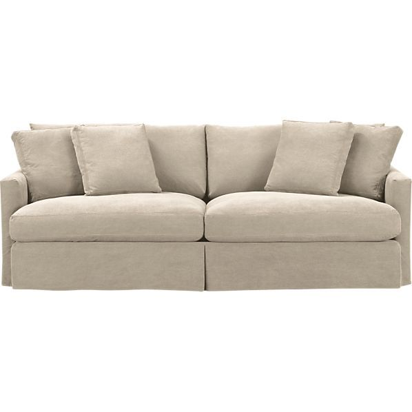 """Slipcover Only for Lounge 93"""" Sofa in Sofas   Crate and Barrel"""