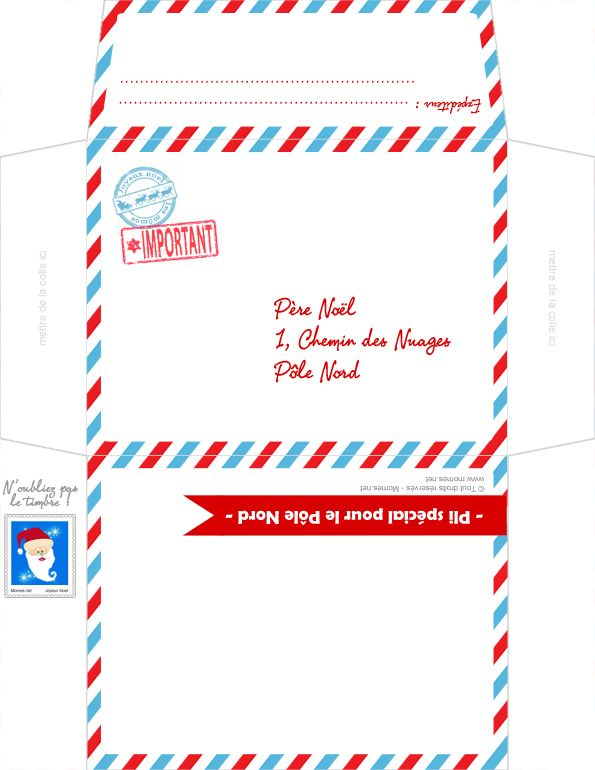 Moderne Lettre au Père au Noël à imprimer | bricolages fêtes | Lettre pere NM-09