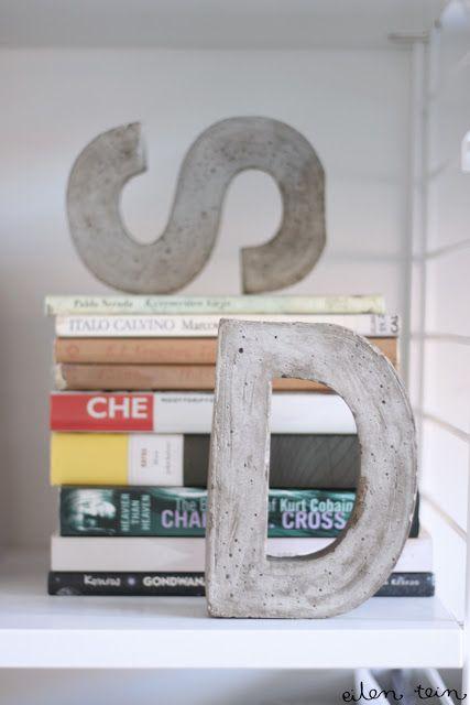 { DIY } 3 idées déco pour de jolies lettres en béton… | www.decocrush.fr