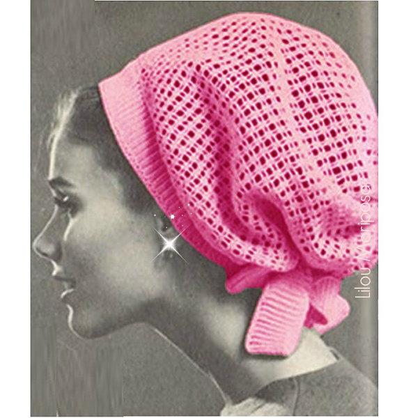 Crochet Pattern Vintage 60s Crochet Hat Pattern Crochet Snood ...