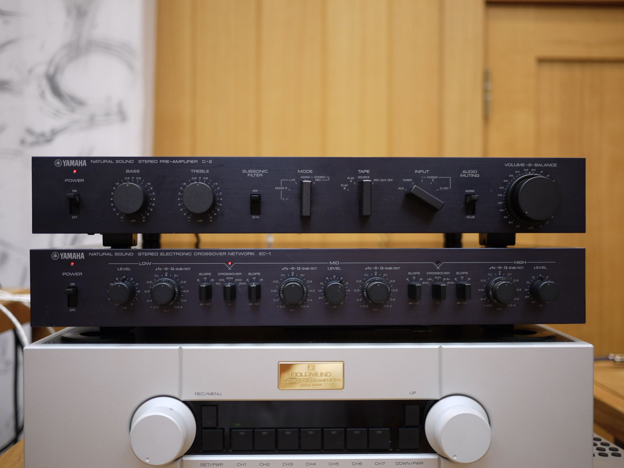 Yamaha C 2 Preamp And Ec 1 Electronic Crossover Network Vintage Band Preamplifier