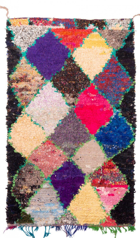 Marokkanischer Berber Teppich Boucherouite 210 X 130 Cm Berber Teppich Berber Teppich