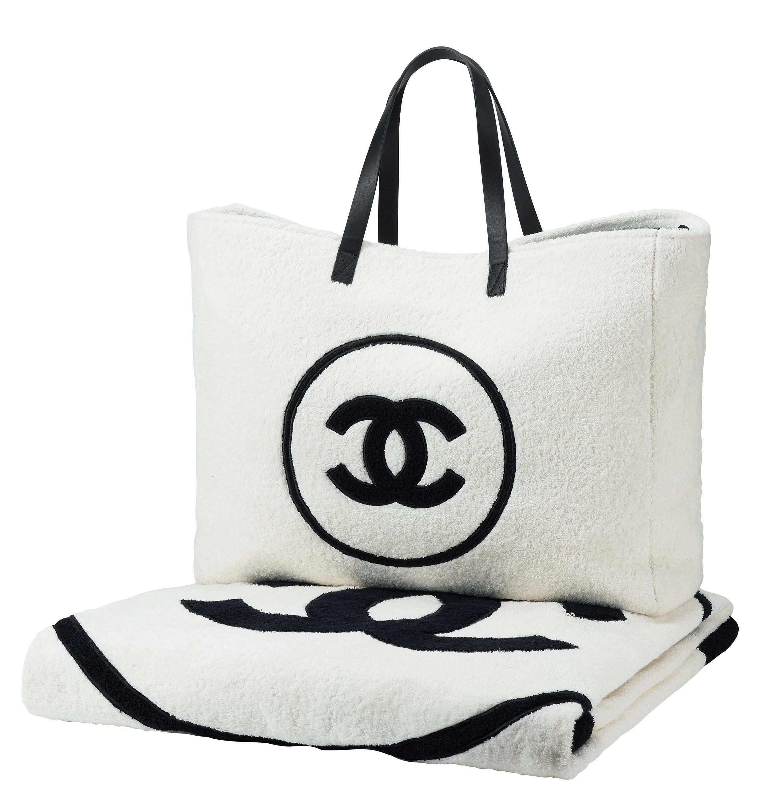 Chanel beach towel and bag   Chanel ♥ in 2019   Pinterest   Chanel ... 59c892f08a