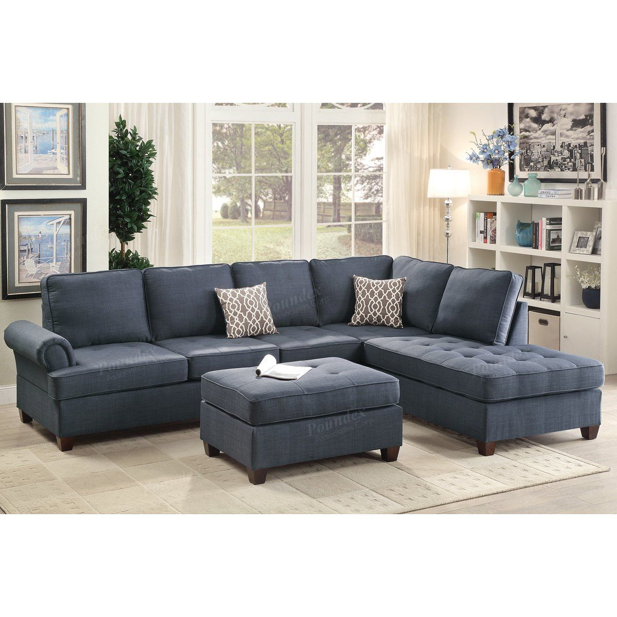 Brylee 118 Reversible Sectional Fabric Sectional Sofas Sectional Sofa Sectional Sofa Couch