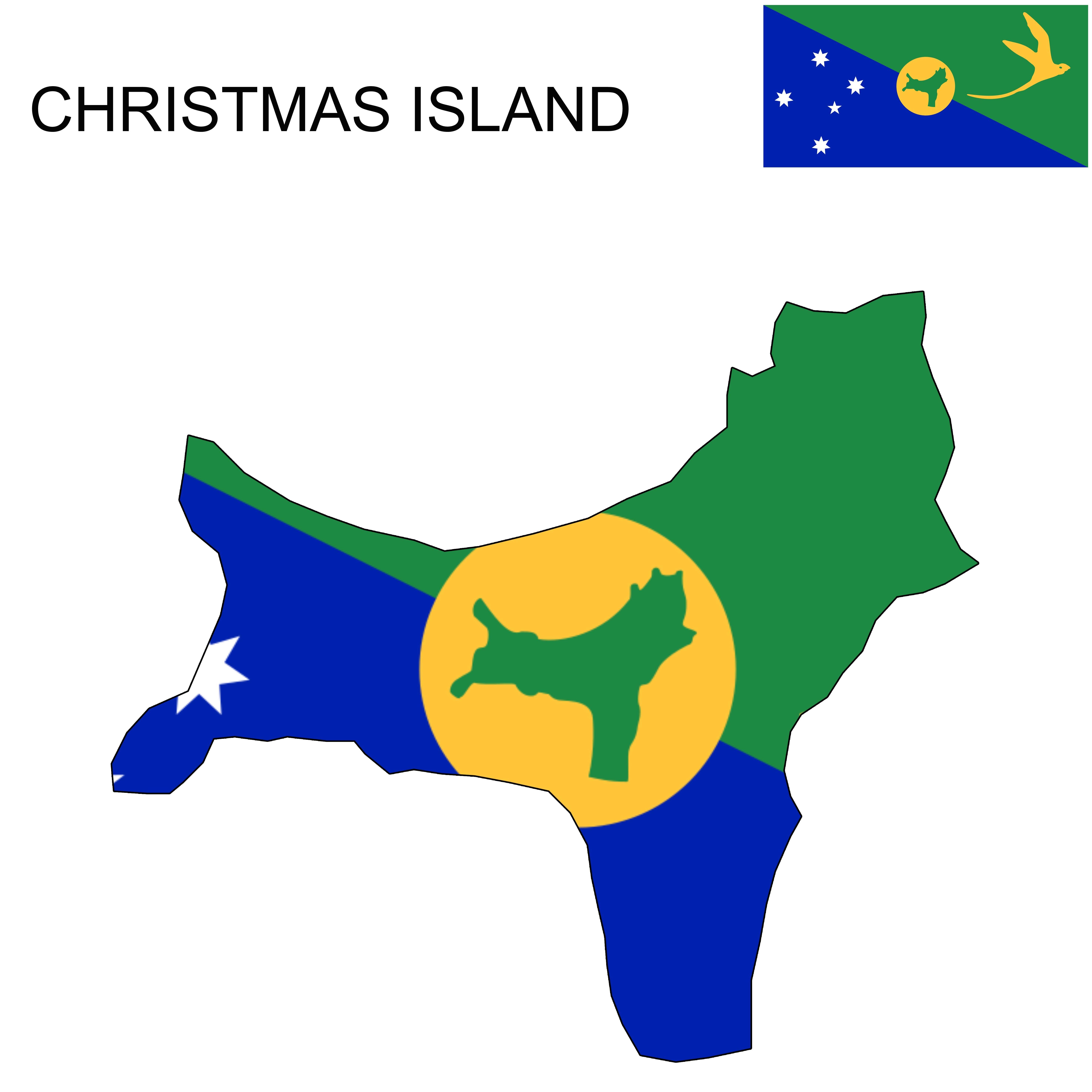 Christmas Island Flag Map (With images) | Christmas island, Flag, Map