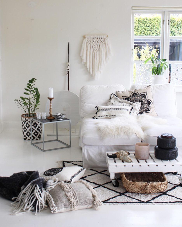 boho vibes auch in einem wohnzimmer im bohemian style
