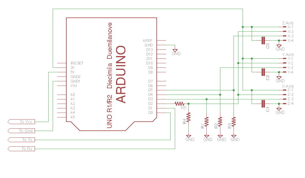 Arduino based Digital Readout (DRO) schematic | CNC | Pinterest ...