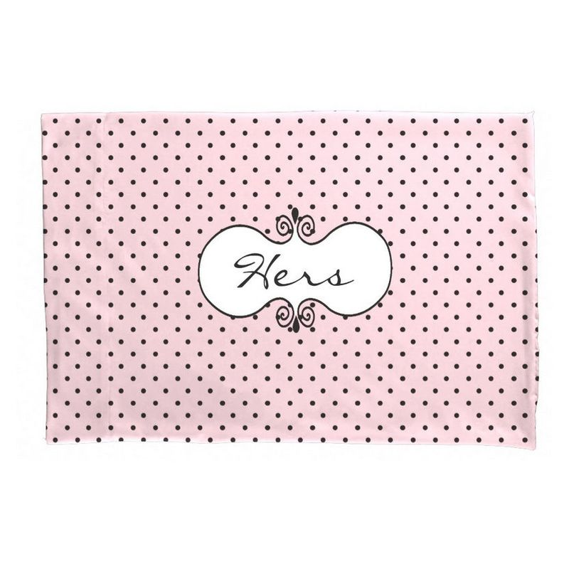 Polka Dot Pillowcases Captivating Girly French Style Pink And Black Polka Dots Personalized For Her Design Ideas