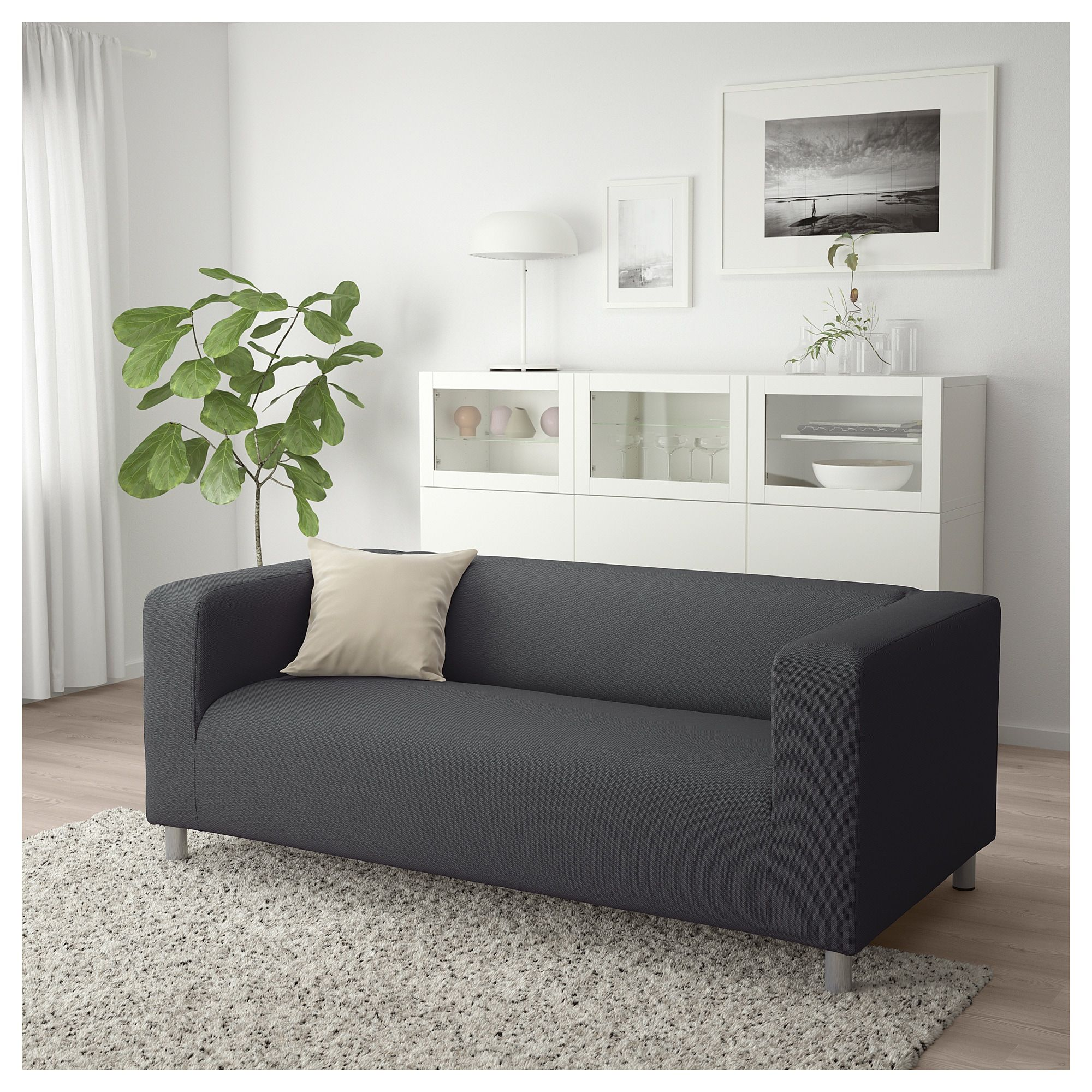 Ikea Klippan Loveseat Vissle Gray Love Seat Furniture Ikea