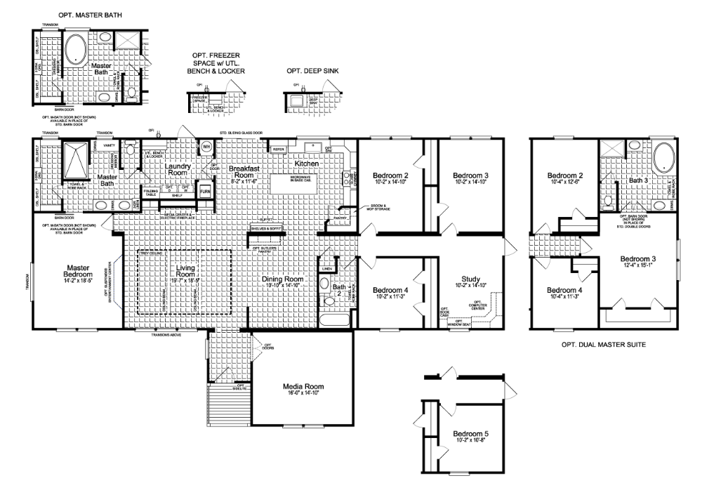 The Vintage Farmhouse Ii Flex Ft47764a Manufactured Or Modular Home Floor Plan Or Modula In 2020 Manufactured Homes Floor Plans House Floor Plans Farmhouse Floor Plans